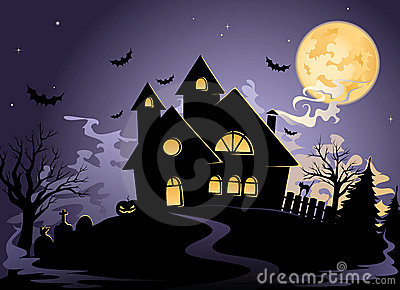 Spooky House at Halloween s night