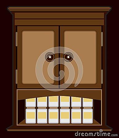 Spooky Nighttime Cabinet