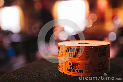 Spool Of Admit One Tickets