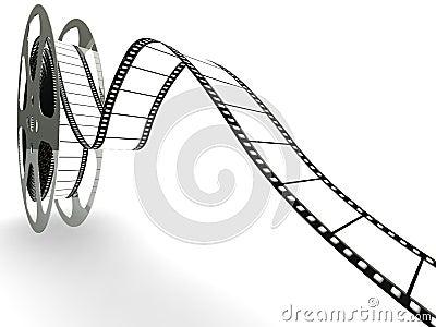Spool of blank movie film