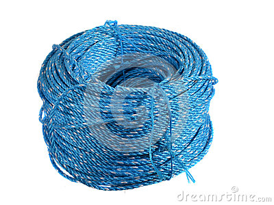 Spool of blue nylon rope