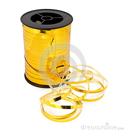 Spool golden ribbon