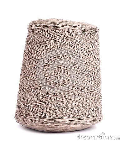 Spool of gray yarn