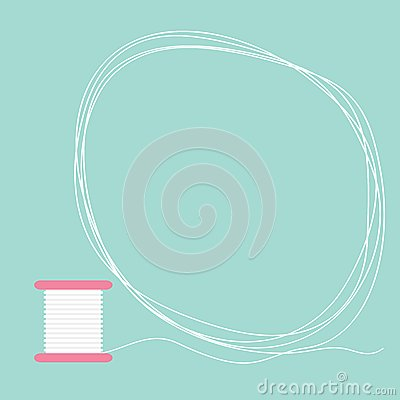 Free Spool Of Thread Round Frame Flat Desigh Love Card Stock Images - 47452974
