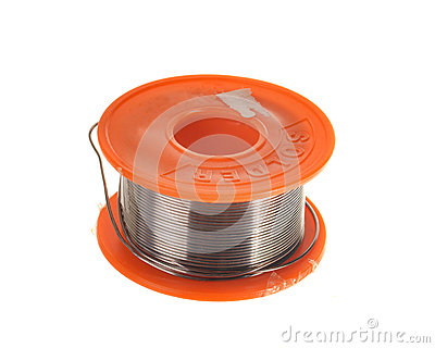 Spool of soldering tin