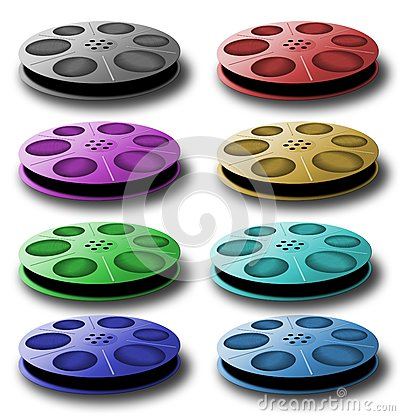 Spool with tape. Different colors.