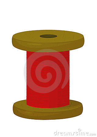 Spool with threads
