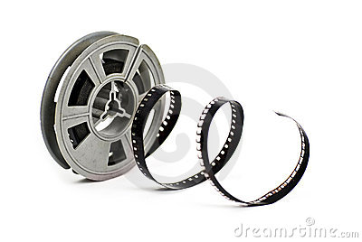 Spool of vintage 8mm movie film