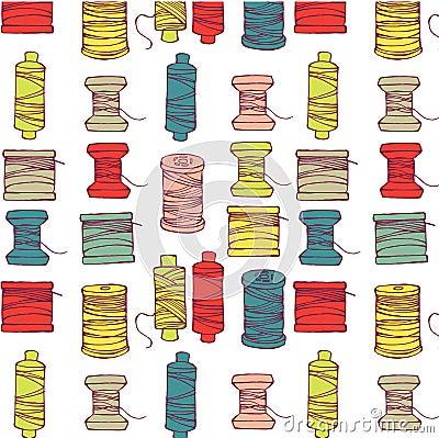 Free Spools Of Thread Pattern Stock Photos - 16097533