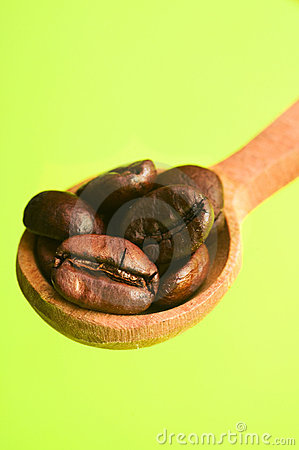 Spoon of coffee bean