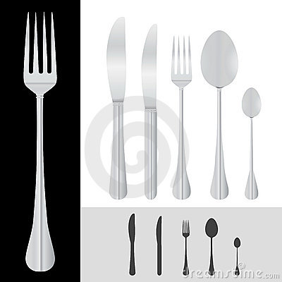 Free Spoon Fork Knife Vector Stock Photo - 5047900