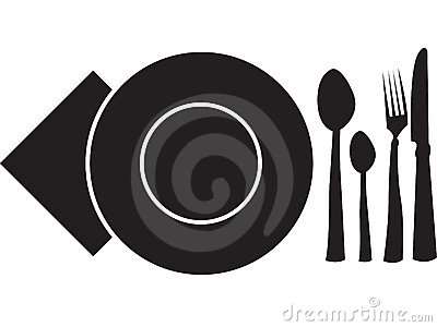 Spoon, fork,plate,napkin and knife