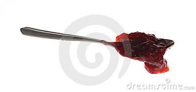Spoon with jam