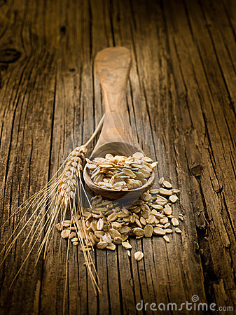 Spoon with oat