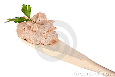 Spoon with pate