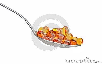 Spoon with vitamin E