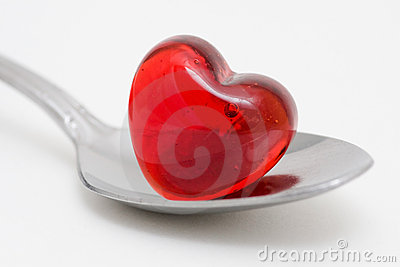 Spoonful of love - Teaspoon and heart