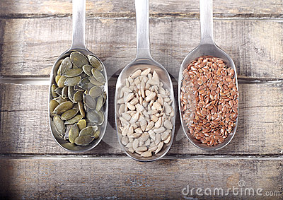Spoons full of seeds
