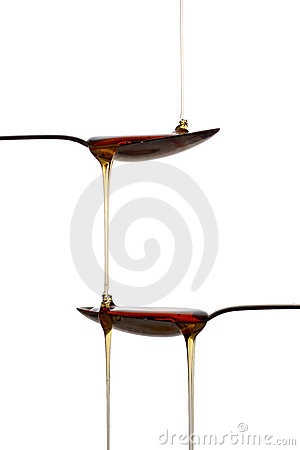 Free Spoons With Syrup Royalty Free Stock Image - 17973086