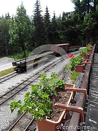 Spoor, oude trein,