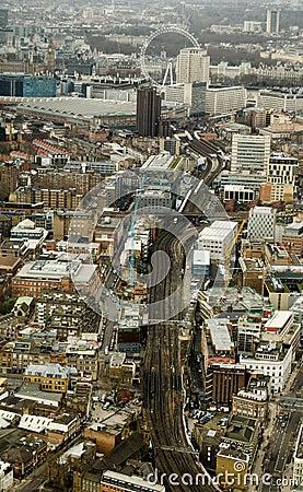 Spoorweglijnen de Zuid- van Londen