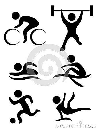 Sportów symboli/lów wektor