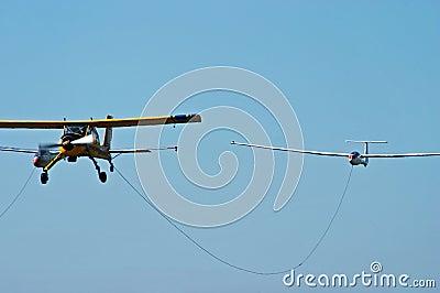 Sport aeroplane tow glider