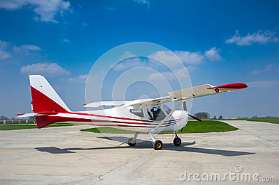 Sport aircraft ready to take off