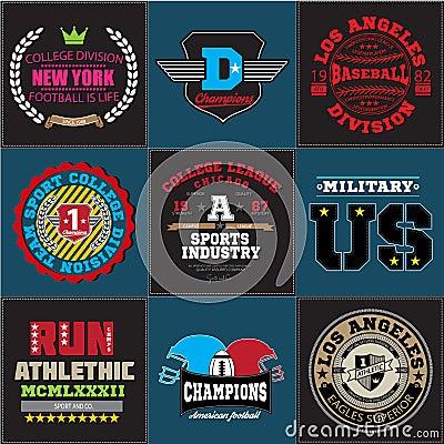 Sport Athletic College Baseball Football Logo Emblem