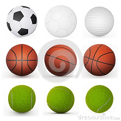 Free Sport Balls Collection Royalty Free Stock Photos - 43718178