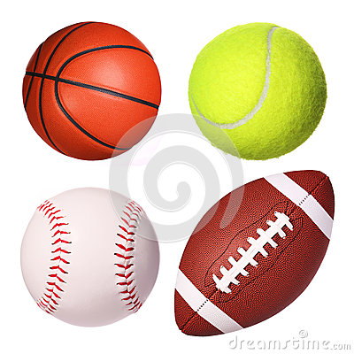 Free Sport Balls Collection Isolated Royalty Free Stock Image - 50021326