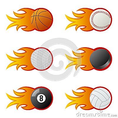 Sport Balls in Flames [1]