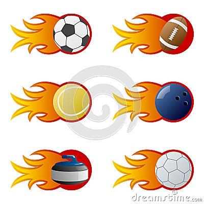 Sport Balls in Flames [2]