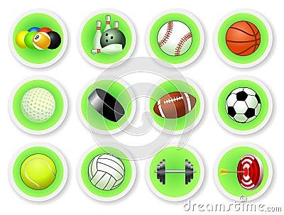 Sport balls icon set