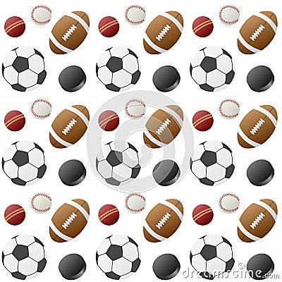 Sport Balls Seamless Pattern [1]
