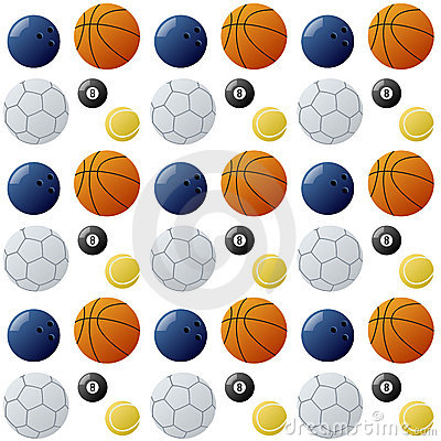 Sport Balls Seamless Pattern [2]