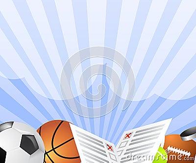 Sport bet banner vector