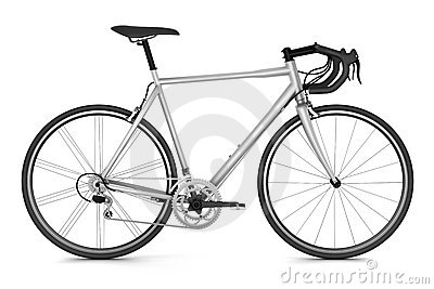 Sport bicycle isolated on white