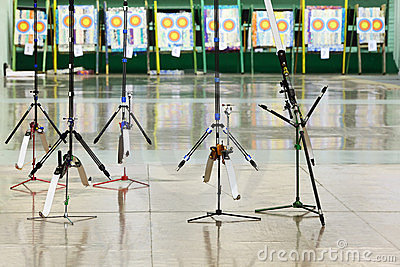 Sport bows stand on stilts