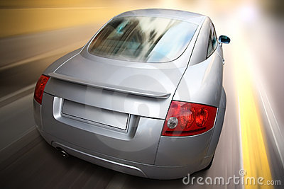 Sport car fast motion