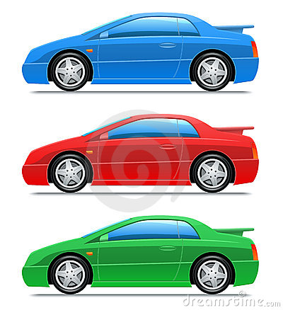 Sport car. Vector icons