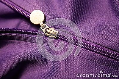 Sport coat zipper
