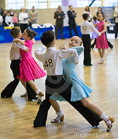 Free Sport Dance Competition Among Children Stock Photography - 9445912