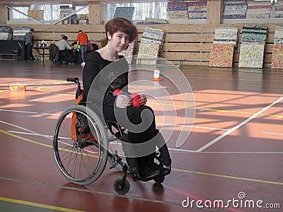 Sport dei invalids disabili della sedia a rotelle immagine for Film sedia a rotelle