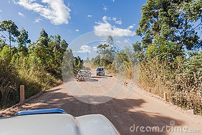 Sport Destination Cars Bikes Dirt Road Editorial Image