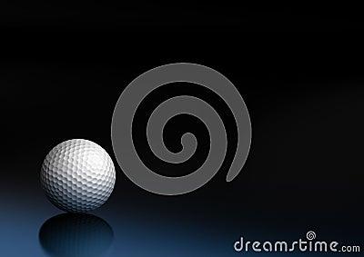 Sport equipment golf ball background