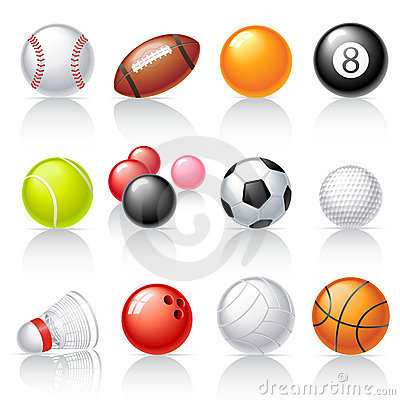 Free Sport Equipment Icons Royalty Free Stock Photography - 21125887