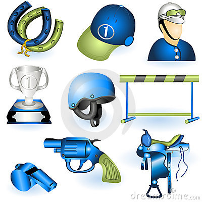 Sport Equipment Icons 3 Stock Images - Image: 19217754
