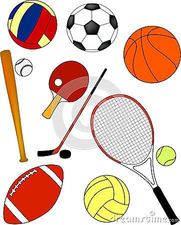 Sport equipment - vector