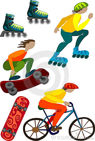 Sport and equipment vector colorful illustration
